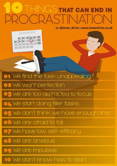 10 reasons why we procrastinate