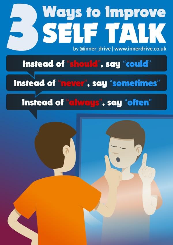 3 ways to improve self talk infographic