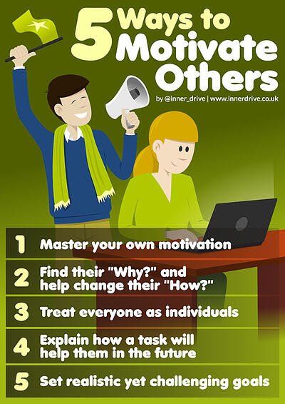 5 ways to motivate others infographic