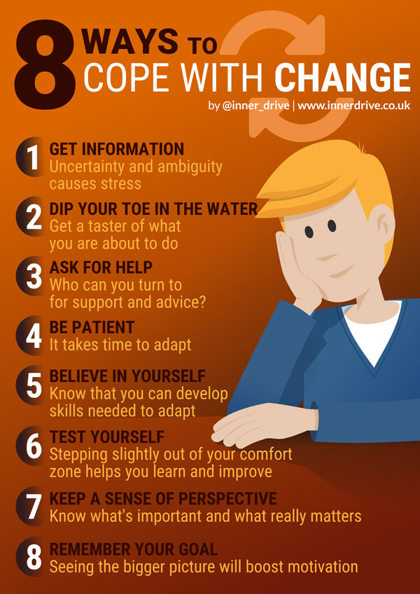 8 ways to cope with change infographic