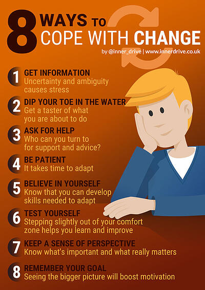 8 ways to cope with change infographic poster