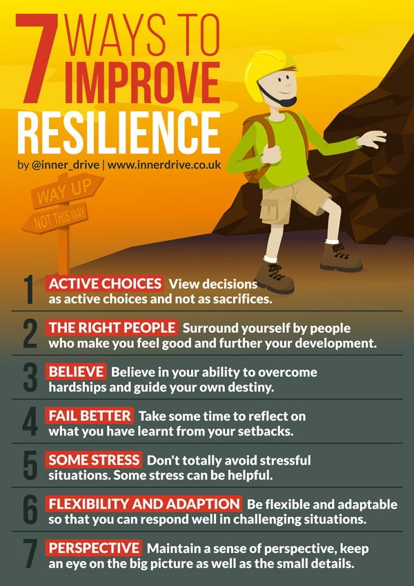 7 ways to improve resilience infographic