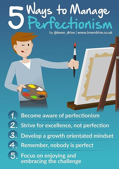 5 ways to manage perfectionism infographic