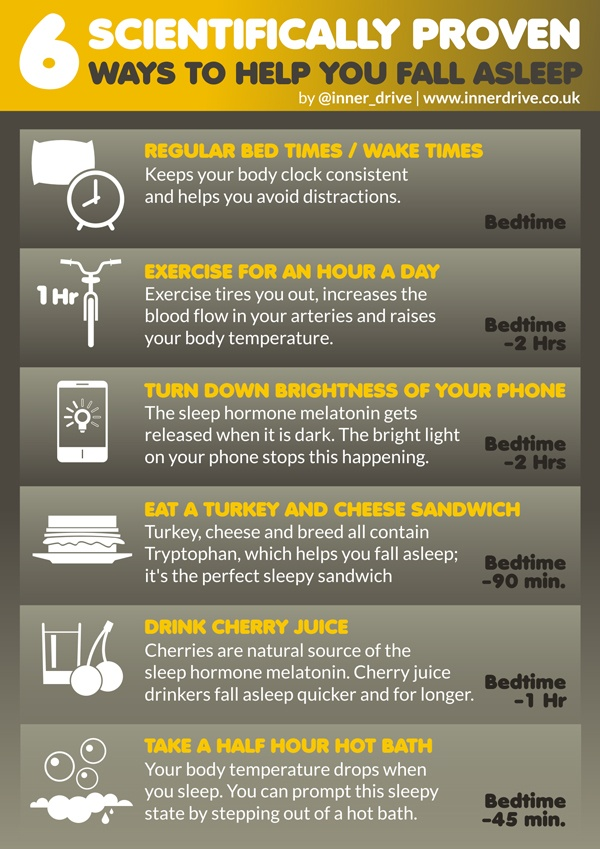 6 ways to help you fall asleep