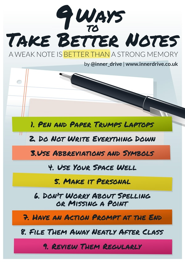 9 ways to take better notes