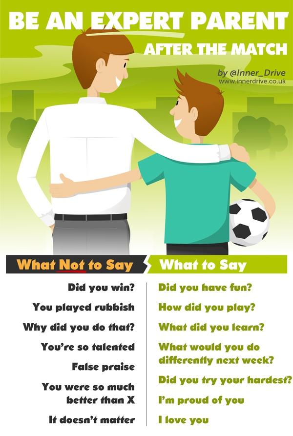 be an expert parent after the match infographic