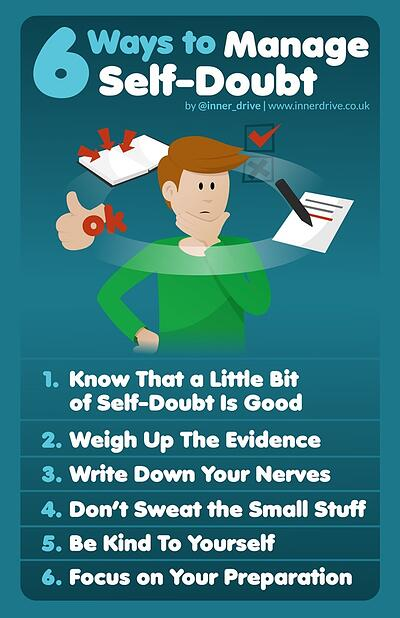 6 ways to manage self doubt infographic