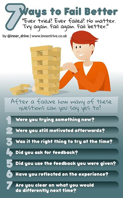 7 ways to fail better infographic