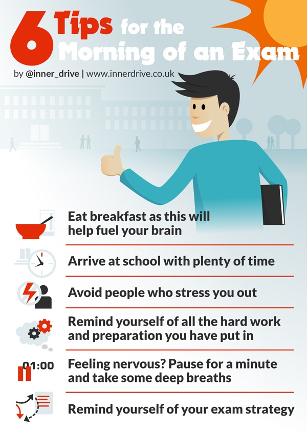 6 tips for the morning of an exam