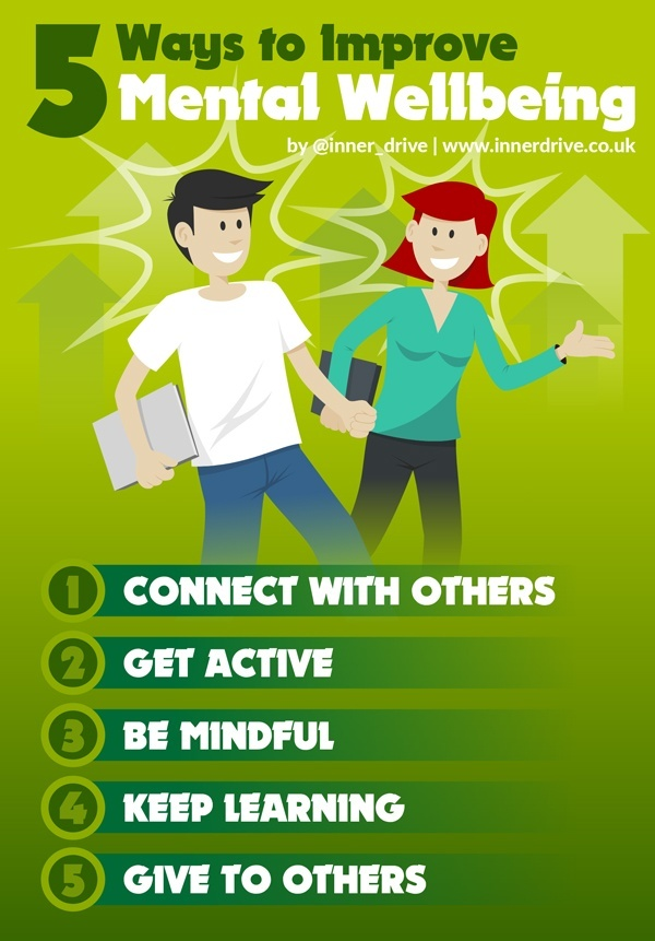 5 ways to improve your mental health infographic