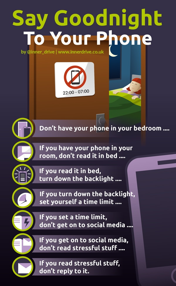 How to stop being on your phone at night