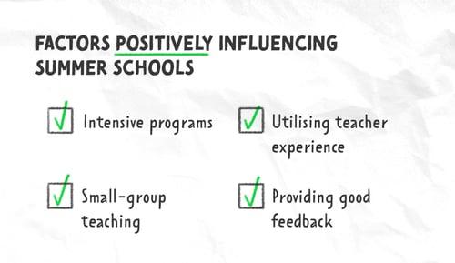 Summer school positive factors