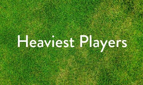 Heaviest players